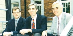 Chris Higgins, David Mee and Barry Rhodes at EUnet Ireland in 1997