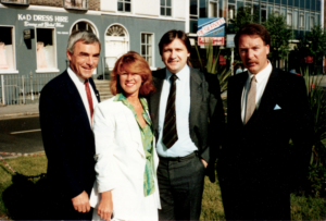 Matrix Group managers in 1986: Barry Rhodes, Liz Nelligan, Peter Comerford and Declan Ganter
